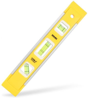 DOWELL 9 Inch Magnetic Box Level Torpedo Level,3 Different