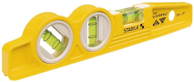 Stabila 25245 - Die Cast Magnetic Torpedo with 45 degree vial and V-groove frame