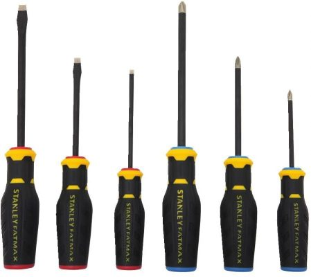 Stanley FHMT62052 6 Piece Fatmax Diamond Tip Screwdriver Set