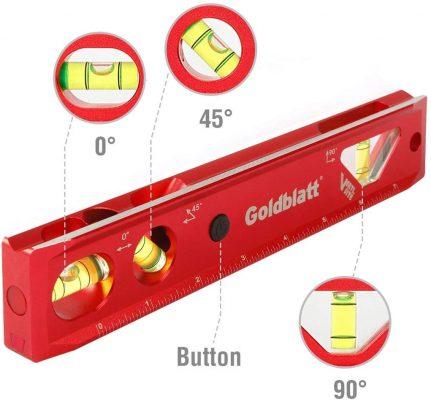GOLDBLATT 9-inch Lighted Torpedo Level