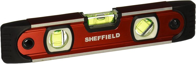 Sheffield 58640 9 Inch Magnetic V-Groove Torpedo Level