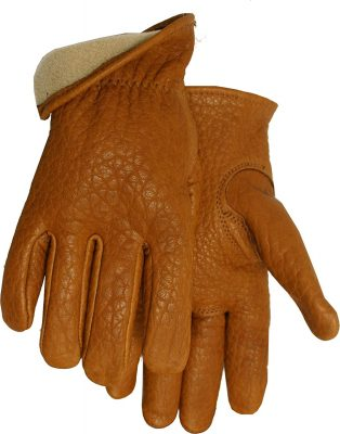 American Made Buffalo Leather Vellux Lined Work Gloves