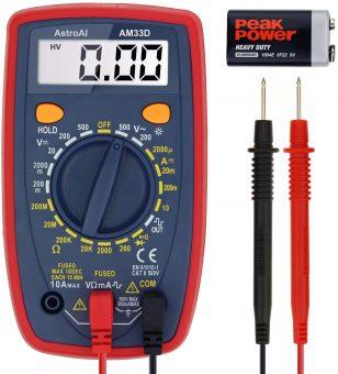 AstroAI AM33D Digital Multimeter