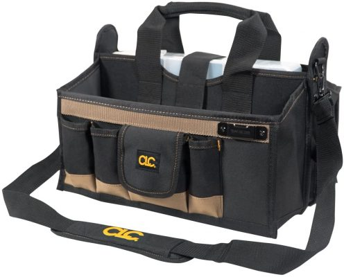 Custom Leathercraft 15 Pocket 16 Inch Center Tray Tool Bag