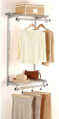 Rubbermaid Add-On Shelving and Hanging Clothes Kit