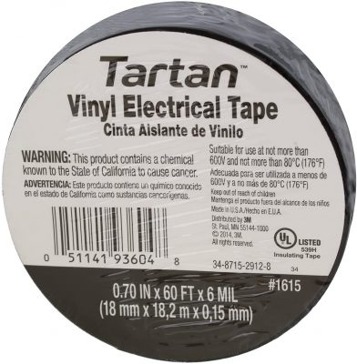 Tartan 3M Vinyl Plastic Electrical Tape