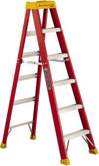 Louisville Ladder L-3016-06 300-Pound Duty Rating Fiberglass Stepladder