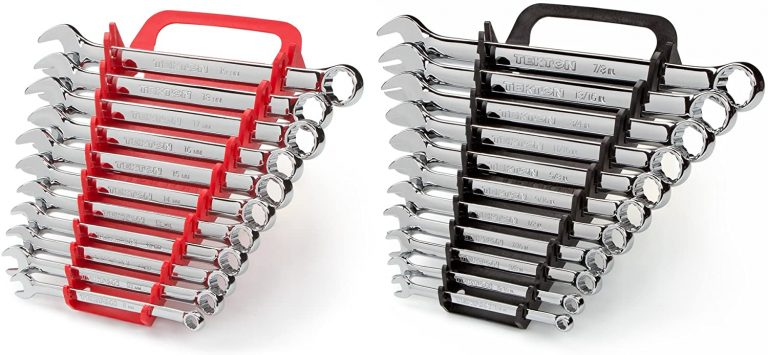 TEKTON Combination Wrench Set with Store and Go Keeper