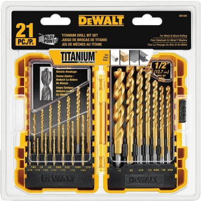 DEWALT DW-1361 Titanium Pilot Point Drill Bit Set