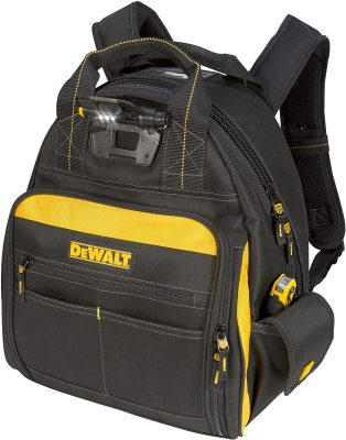 DEWALT Lighted Tool Backpack Bag