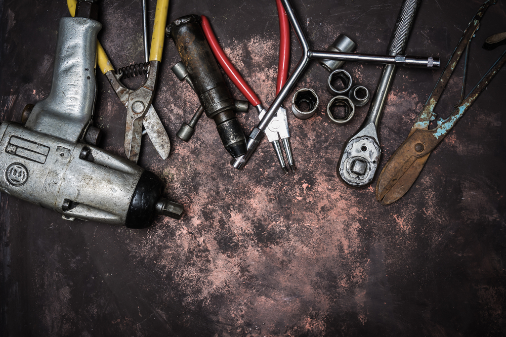 impact wrench and other tools on table