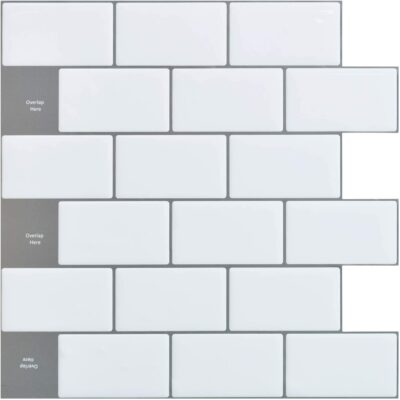 "Art3d 12x12"" Peel and Stick Backsplash Tile"