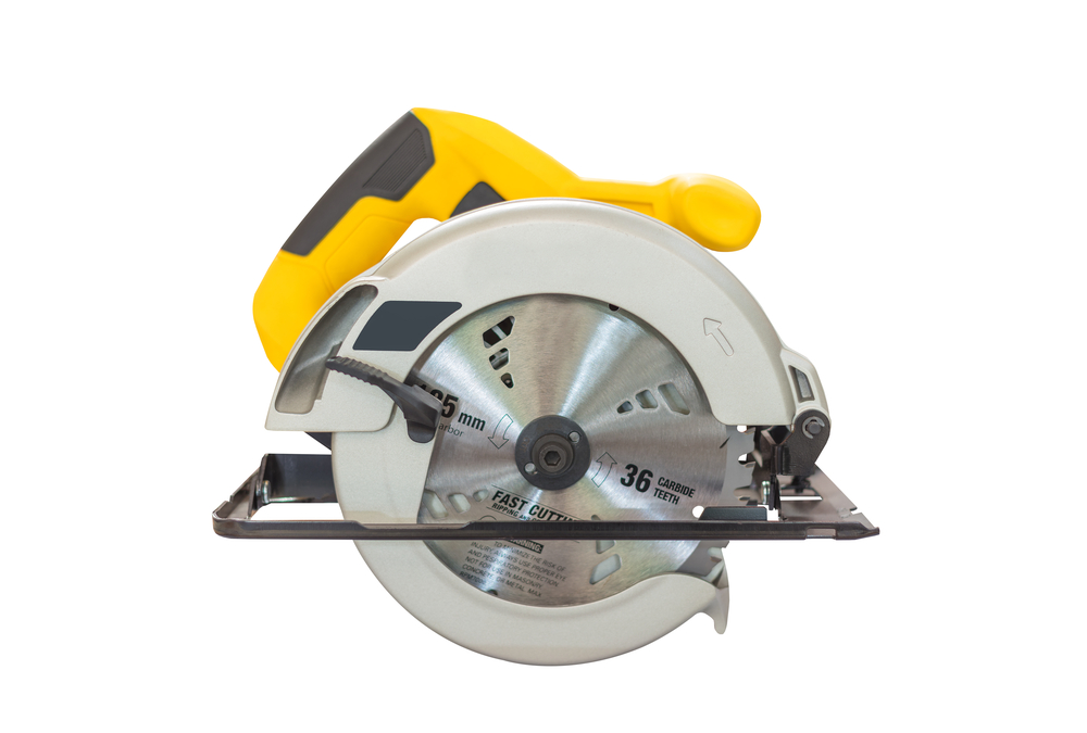 side view of circular saw