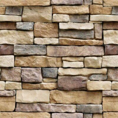 Yancorp Stone Brick Wallpaper