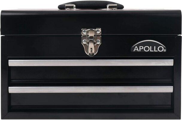 APOLLO TOOLS Black Metal Tool Box
