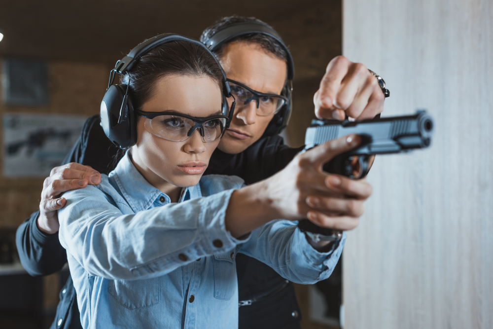 shooting instructor and student