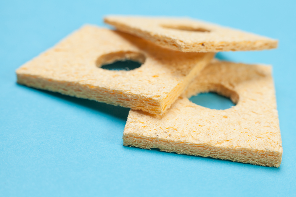 Sponges for cleaning the soldering iron's tip