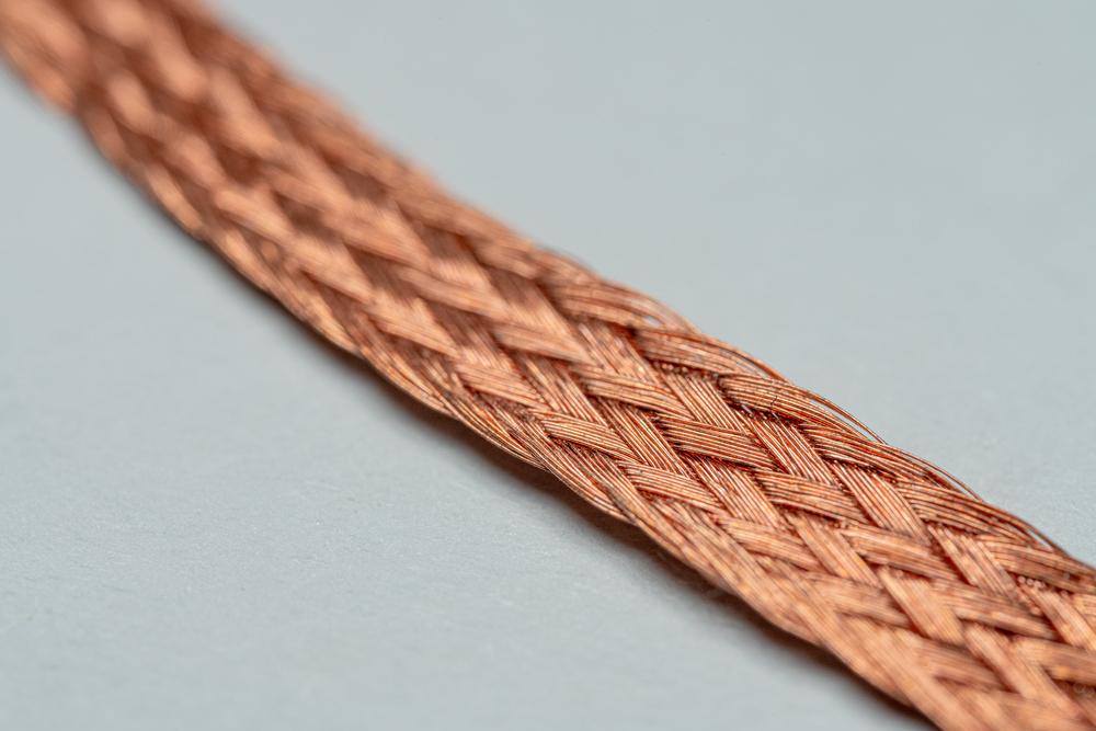 Desoldering braid close-up shot