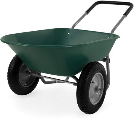 Best Choice Products Dual-Wheel Wheelbarrow