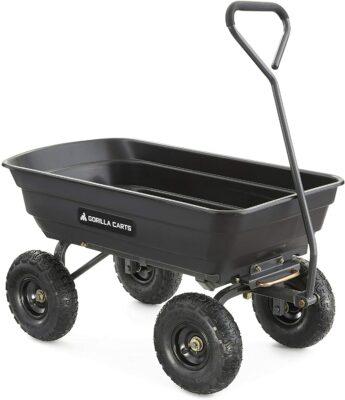 Gorilla Carts Poly Garden Dump Cart