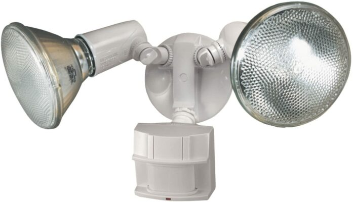 Heath Zenith 150 Degree Twin Head Motion Activated Halogen Security Light (Pack of 1)