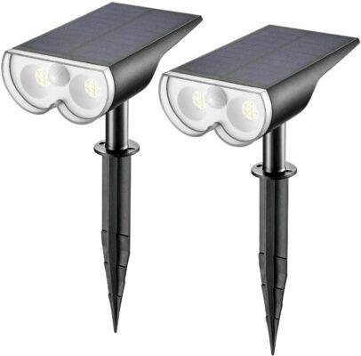 Linkind LED Solar Motion Sensor Landscape Spotlights (Pack of 2)