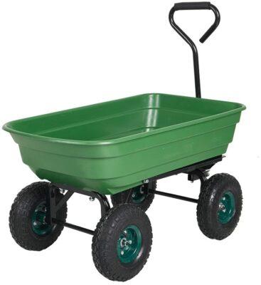 Livebest Heavy-Duty Wagon Garden Dump Cart