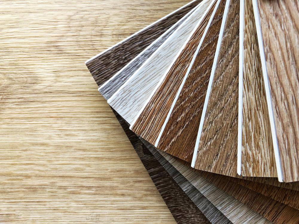 Different shades of vinyl plank flooring