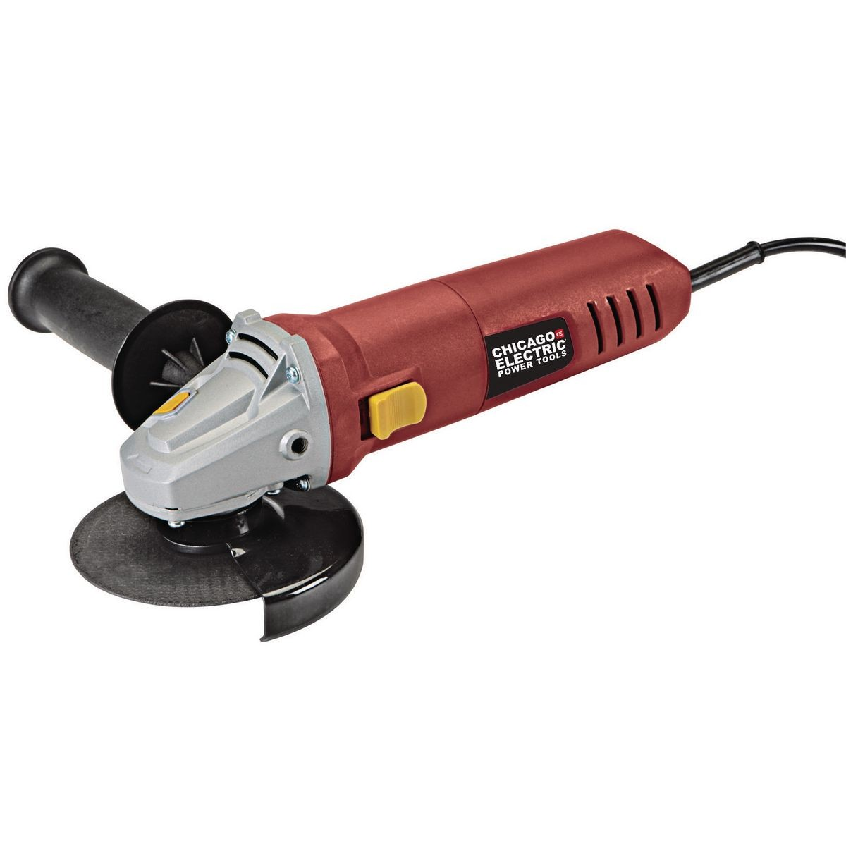 angle grinder with metal cutoff disc