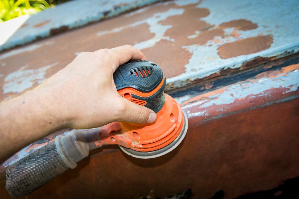 removing rust from metal door