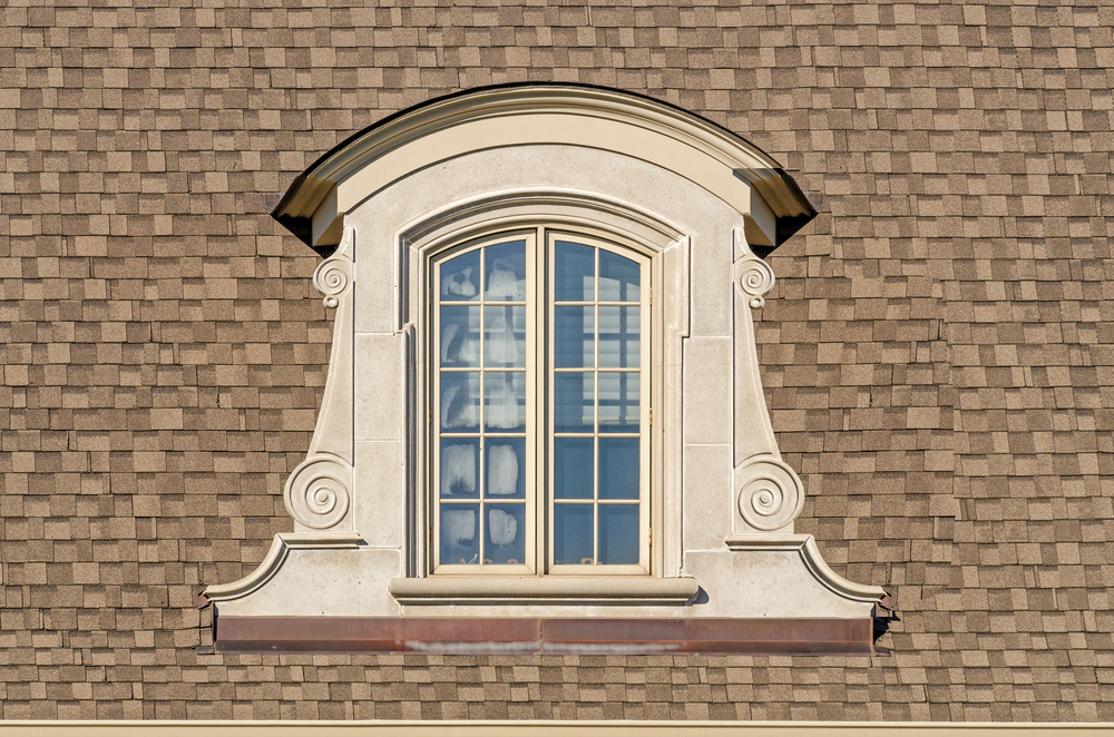 Arched top dormer window