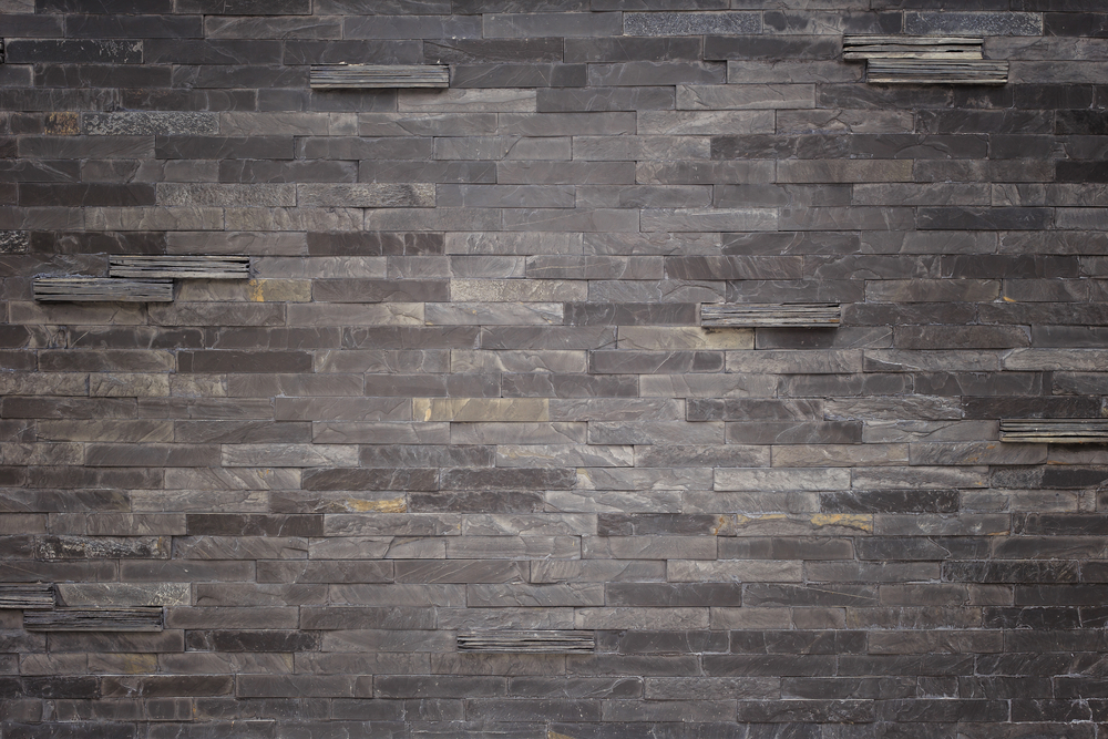Black slate tiles