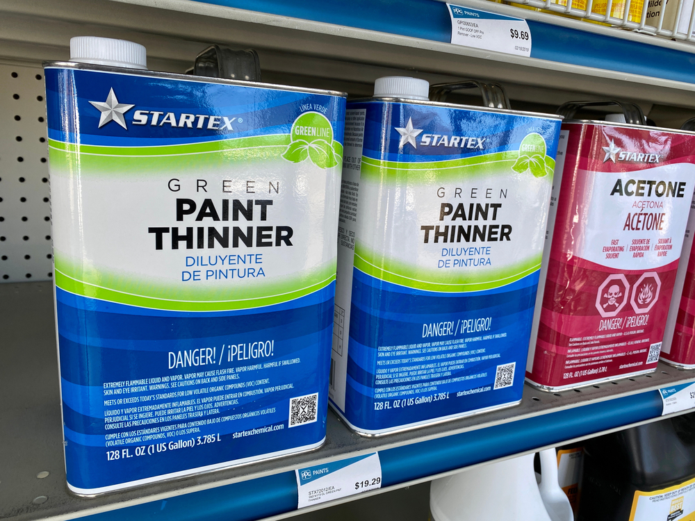 Paint thinner can damage the plastic