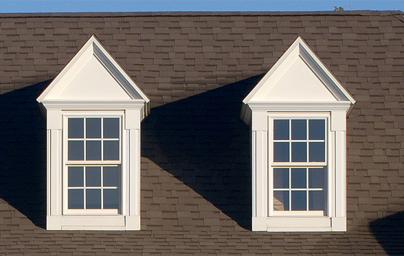 Pedimented dormer windows