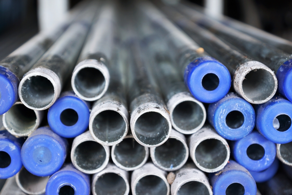 galvanized steel water pipes