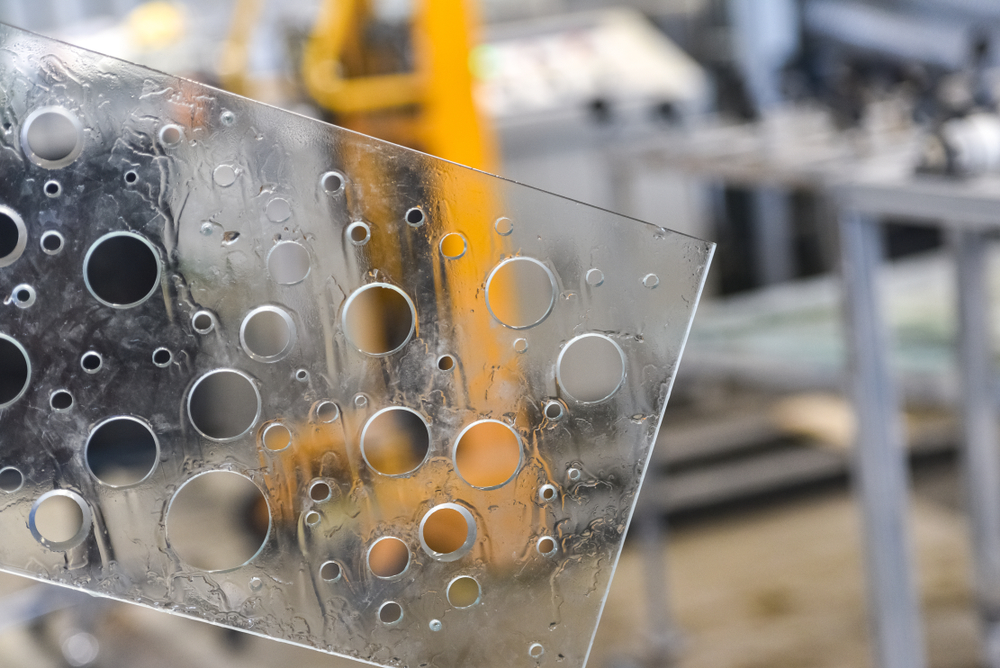 glass with holes