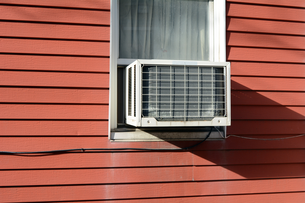 air conditioner in a window