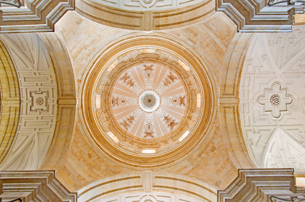domed ceiling in church