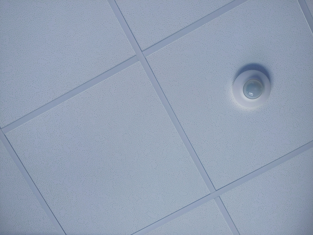 dropped ceiling in an office