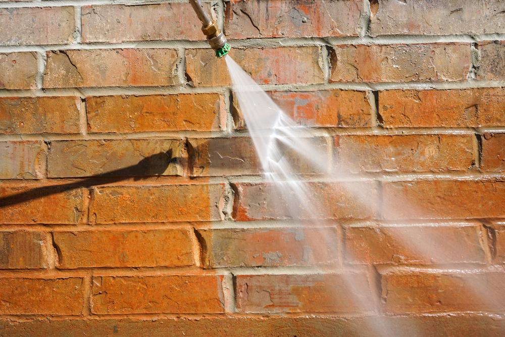 power washing bricks