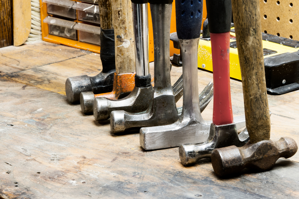 row of hammers