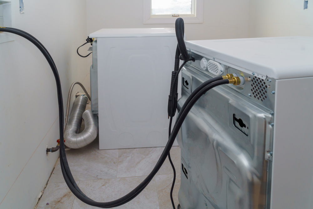 washing machine pulled away from wall