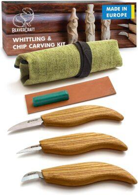 BeaverCraft S15 Whittling Wood Carving Kit