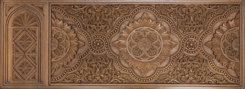 Chip and relief carved panel