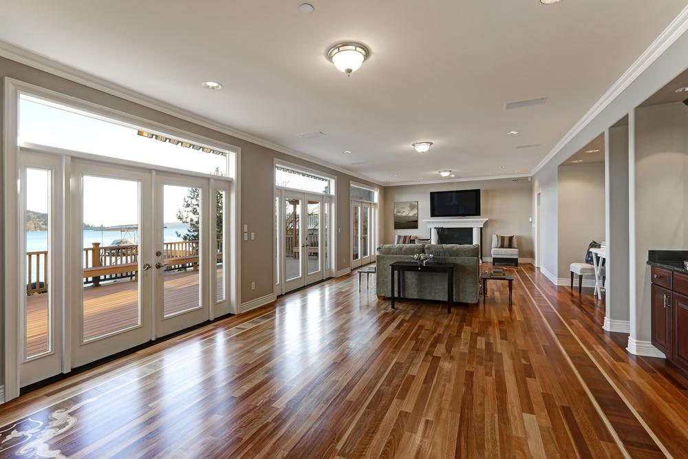 hardwood floor inside home