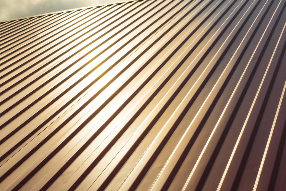 close up metal roof