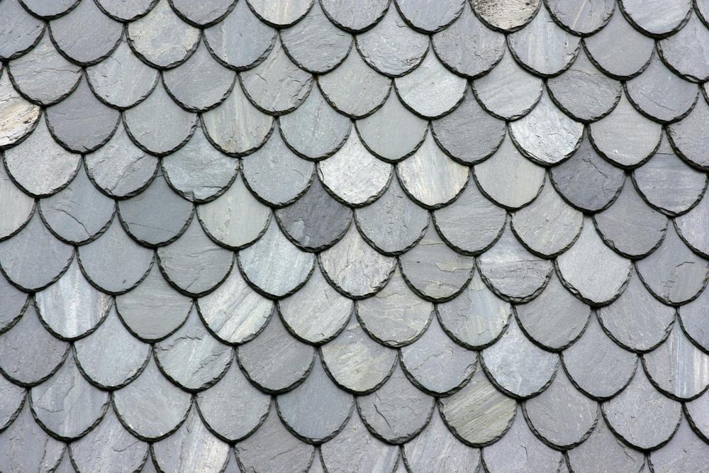 close up slate shingles