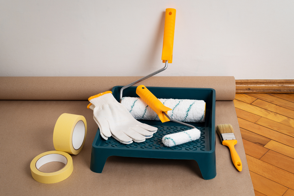 protect your workspace to avoid splashing paint everywhere