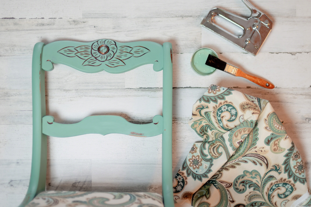 vintage chair painted with chalk paint